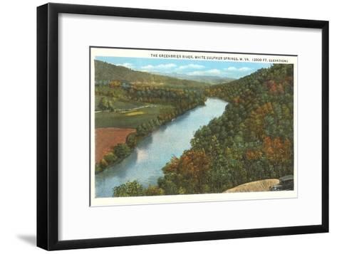 Greenbrier River, White Sulphur Springs, West Virginia--Framed Art Print