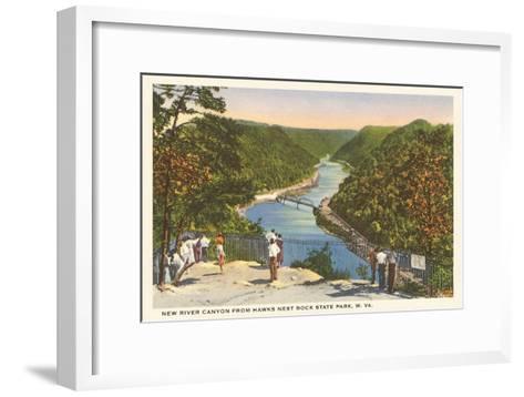 New River Canyon, West Virginia--Framed Art Print