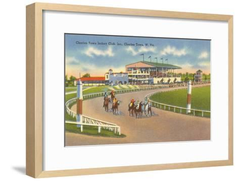 Racetrack, Charles Town, West Virginia--Framed Art Print