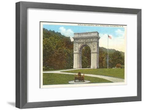 World War Memorial Arch, Huntington, West Virginia--Framed Art Print