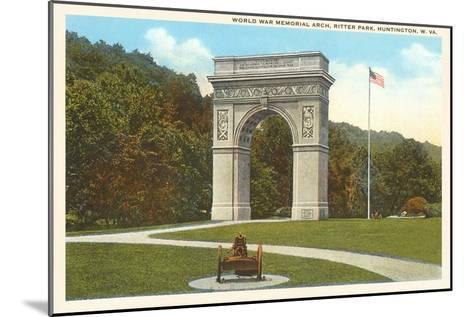 World War Memorial Arch, Huntington, West Virginia--Mounted Art Print