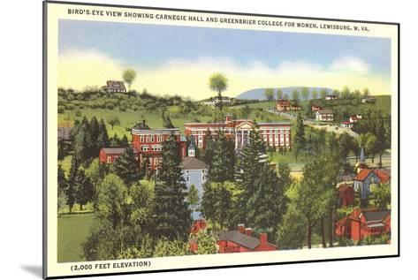 Carnegie Hall, Greenbrier College, Lewisburg, West Virginia--Mounted Art Print