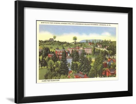 Carnegie Hall, Greenbrier College, Lewisburg, West Virginia--Framed Art Print