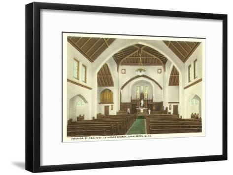 Interior, St. Paul's Church, Charleston, West Virginia--Framed Art Print