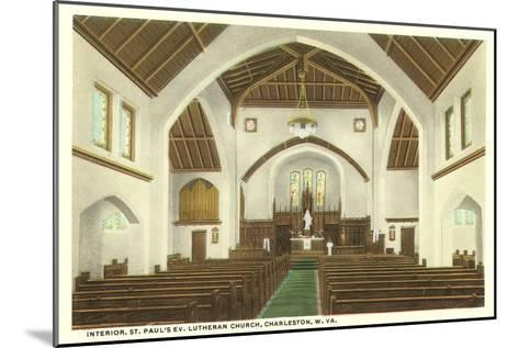 Interior, St. Paul's Church, Charleston, West Virginia--Mounted Art Print