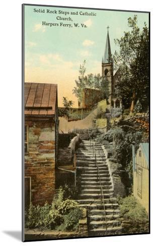 Rock Steps, Catholic Church, Harper's Ferry, West Virginia--Mounted Art Print