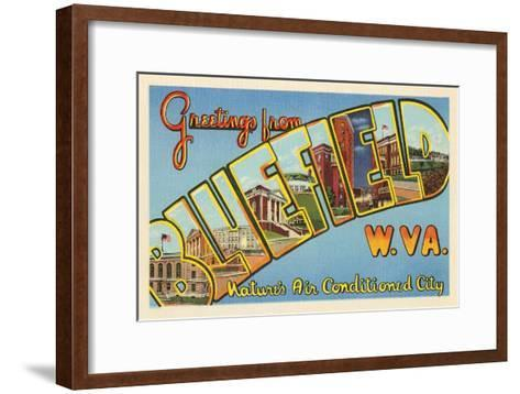 Greetings from Bluefield, West Virginia--Framed Art Print