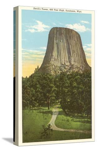 Devil's Tower, Sundance, Wyoming--Stretched Canvas Print