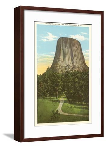 Devil's Tower, Sundance, Wyoming--Framed Art Print