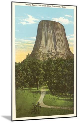 Devil's Tower, Sundance, Wyoming--Mounted Art Print
