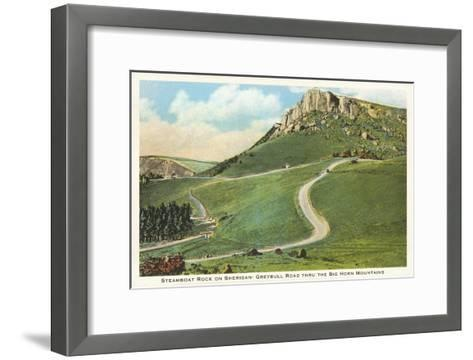 Steamboat Rock, Big Horn Mountains, Wyoming--Framed Art Print