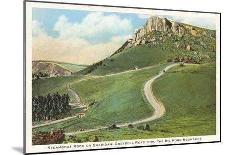 Steamboat Rock, Big Horn Mountains, Wyoming--Mounted Art Print