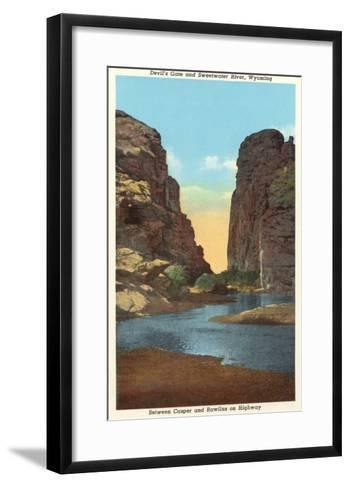 Devil's Gate and Sweetwater River, Wyoming--Framed Art Print