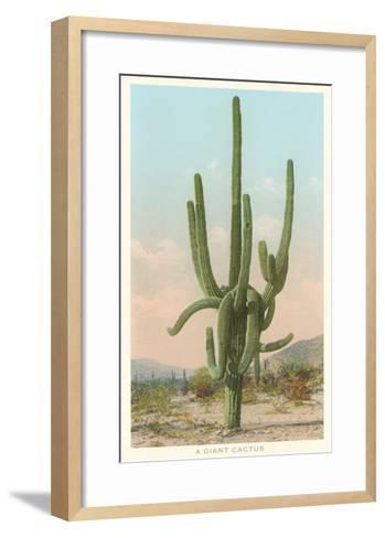 Giant Multi-Armed Saguaro Cactus--Framed Art Print