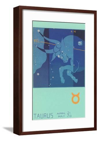 Taurus, the Bull--Framed Art Print