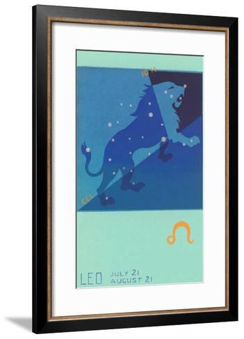Leo, the Lion--Framed Art Print