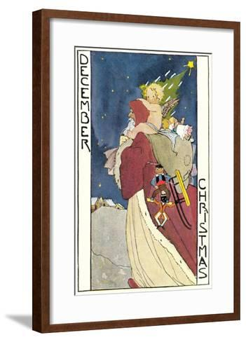 December Father Christmas--Framed Art Print