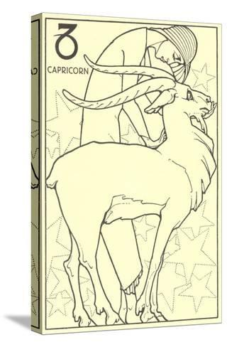 Capricorn, the Goat--Stretched Canvas Print