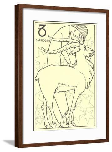Capricorn, the Goat--Framed Art Print