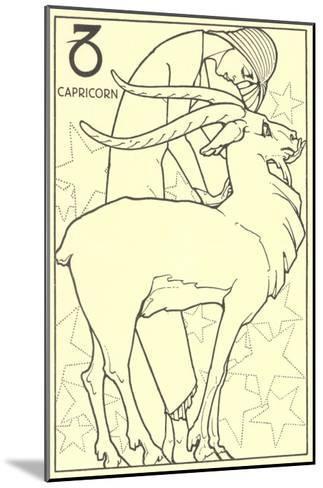 Capricorn, the Goat--Mounted Art Print