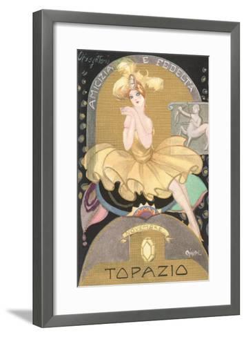 Italian Month Signs, November--Framed Art Print