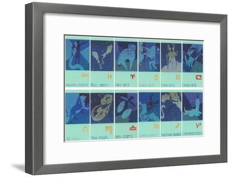 Twelve Zodiac Signs--Framed Art Print