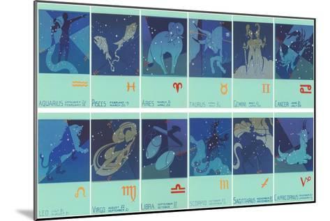 Twelve Zodiac Signs--Mounted Art Print