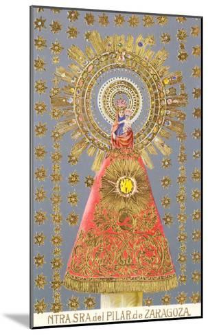 Nuestra Senora del Pilar de Zaragoza, Virgin Icon--Mounted Art Print