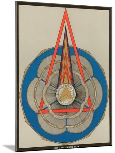 Geometric Representation of Om Mani Padme Hum Mantra--Mounted Art Print