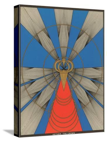 Geometric Representation of Kether, the Crown--Stretched Canvas Print
