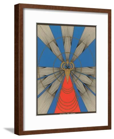 Geometric Representation of Kether, the Crown--Framed Art Print