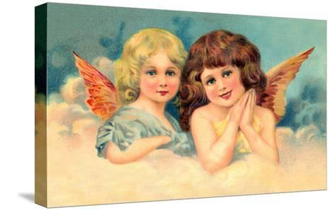Young Girls as Cherubs, Illustration--Stretched Canvas Print