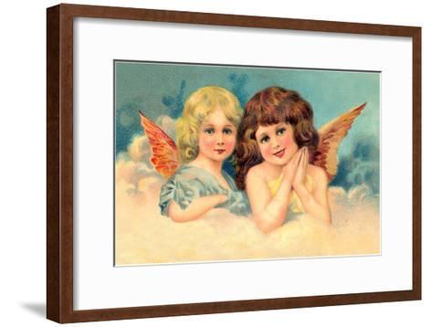 Young Girls as Cherubs, Illustration--Framed Art Print