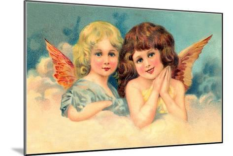 Young Girls as Cherubs, Illustration--Mounted Art Print