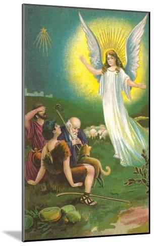 Angel Greeting Shepherds--Mounted Art Print