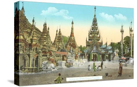 Shwedagon Pagoda, Rangoon, Burma--Stretched Canvas Print