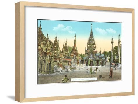 Shwedagon Pagoda, Rangoon, Burma--Framed Art Print