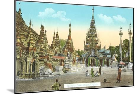 Shwedagon Pagoda, Rangoon, Burma--Mounted Art Print