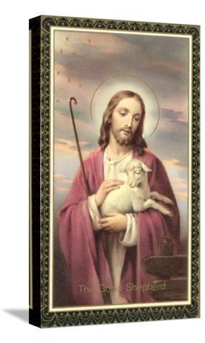 Jesus Christ with Lamb--Stretched Canvas Print