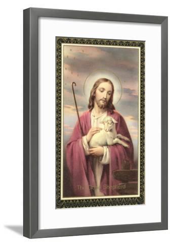 Jesus Christ with Lamb--Framed Art Print
