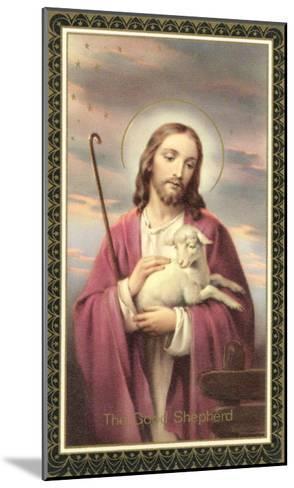 Jesus Christ with Lamb--Mounted Art Print