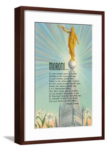Mormon Statue, Angel Moroni--Framed Art Print
