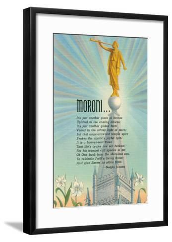 Mormon Statue, Angel Moroni--Framed Art Print