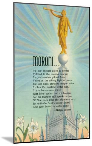 Mormon Statue, Angel Moroni--Mounted Art Print