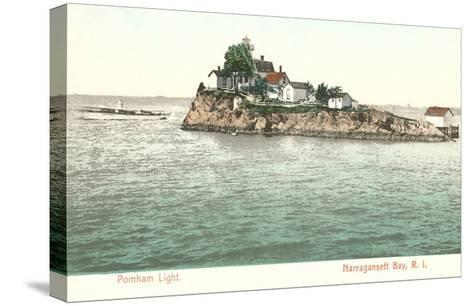 Pomham Lighthouse, Narragansett Bay, Rhode Island--Stretched Canvas Print