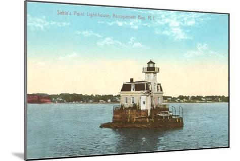 Sabin's Point Lighthouse, Narragansett Bay, Rhode Island--Mounted Art Print