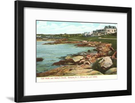 Cliff Walk, Newport, Rhode Island--Framed Art Print