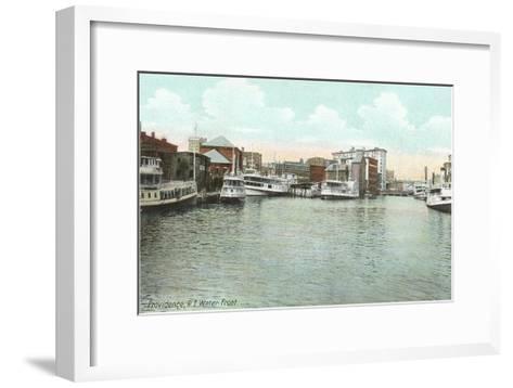 Waterfront, Providence, Rhode Island--Framed Art Print