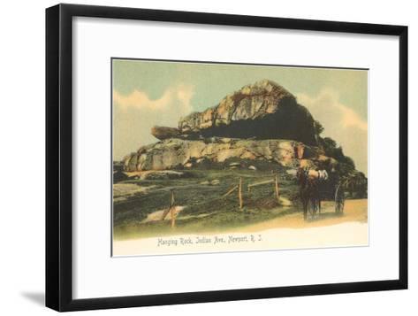 Hanging Rock, Newport, Rhode Island--Framed Art Print