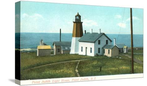 Point Judith Lighthouse, Rhode Island--Stretched Canvas Print